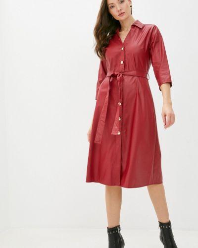 Кожаное красное платье Rinascimento