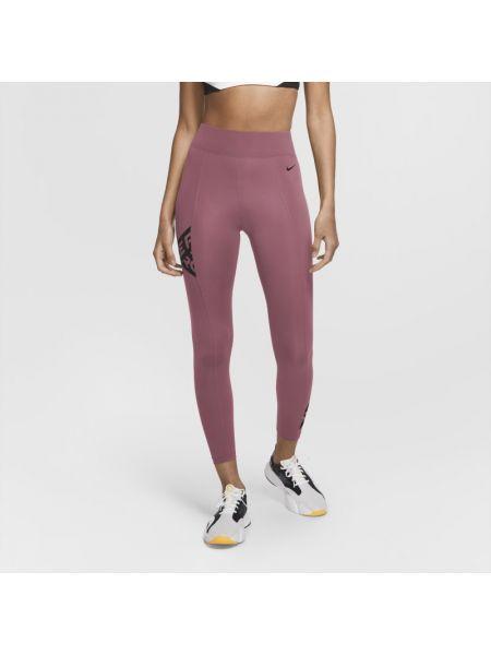 Bezpłatne cięcie różowy legginsy elastyczny bezpłatne cięcie Nike