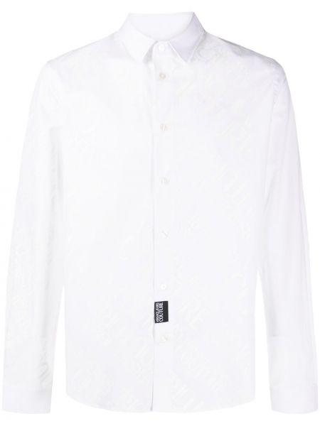 Koszula z długim rękawem klasyczna dżinsowa Versace Jeans Couture