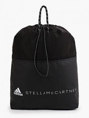 Черный текстильный рюкзак Adidas By Stella Mccartney