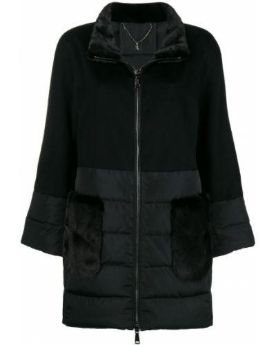 Черная длинная куртка N.peal