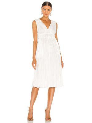 Плиссированное белое купальное платье без рукавов Rebecca Taylor