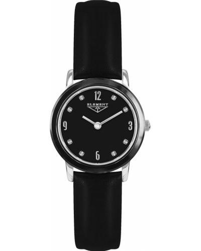 Кварцевые часы на кожаном ремешке водонепроницаемые 33 Element