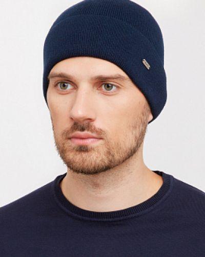 Трикотажная синяя вязаная шапка Wag Concept