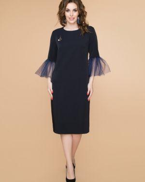 Вечернее платье миди сетчатое Belluche