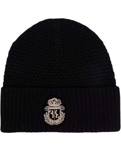 Шерстяная шапка бини - черная Billionaire