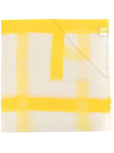 Желтый шерстяной шарф в клетку Faliero Sarti