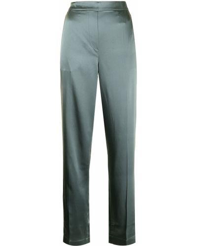 Зеленые шелковые брюки Joseph