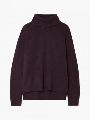 Prążkowany fioletowy z kaszmiru sweter Atm Anthony Thomas Melillo