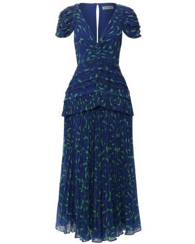 Платье приталенное с оборками Self-portrait