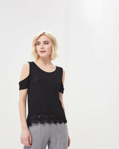 Черная футболка Jennyfer