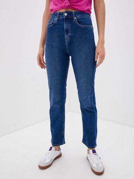 Прямые джинсы mom синие Pepe Jeans