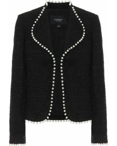 Ватная черная куртка твидовая Giambattista Valli