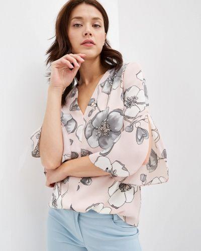 Блузка с длинным рукавом розовая весенний Yuna Style