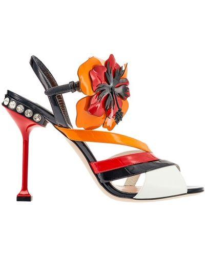 Босоножки на каблуке на шпильке на высоком каблуке Miu Miu