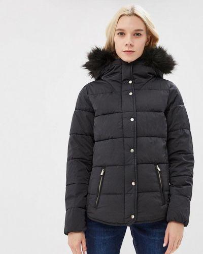 Утепленная куртка демисезонная черная Modis