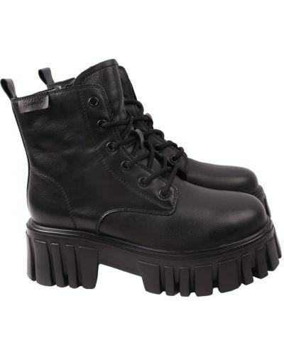 Кожаные ботинки - черные Berisstini