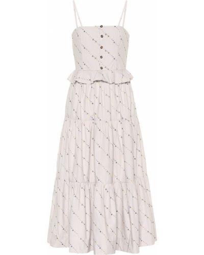 Летнее платье миди с цветочным принтом Ganni