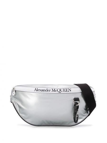 Pasek srebro Alexander Mcqueen