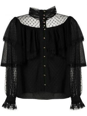 Рубашка с длинным рукавом - черная Olympiah