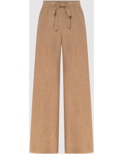 Кашемировые прямые бежевые брюки Loro Piana