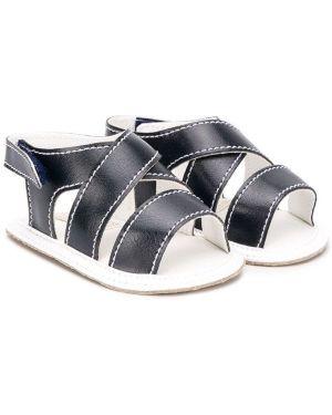 Niebieskie sandały płaska podeszwa bawełniane Aletta