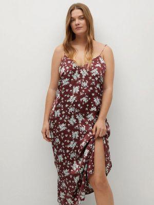 Бордовое платье Violeta By Mango