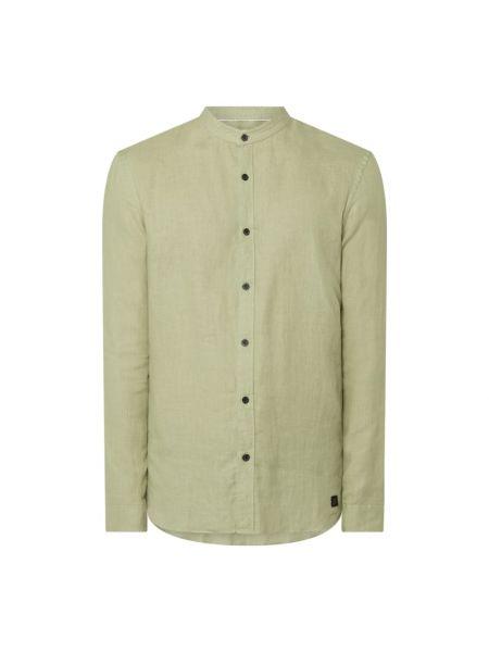 Zielona koszula slim z długimi rękawami Nowadays