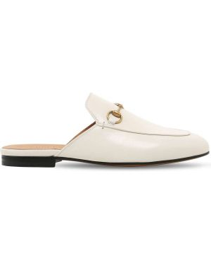 Мюли кожаные на каблуке Gucci