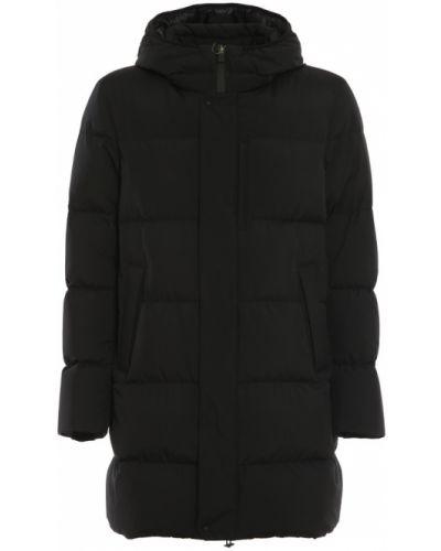 Płaszcz puchowy z kapturem - czarny Herno