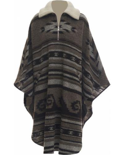 Długi płaszcz wełniany - brązowy Isabel Marant