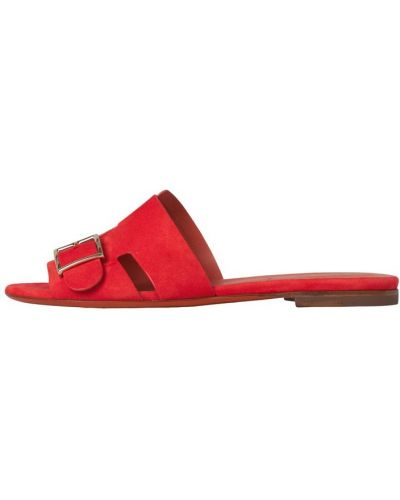 Czerwone sandały Santoni