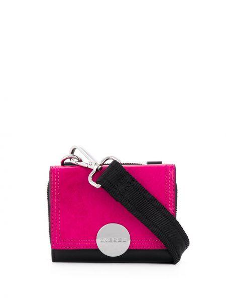 Розовый кожаный кошелек на молнии Diesel