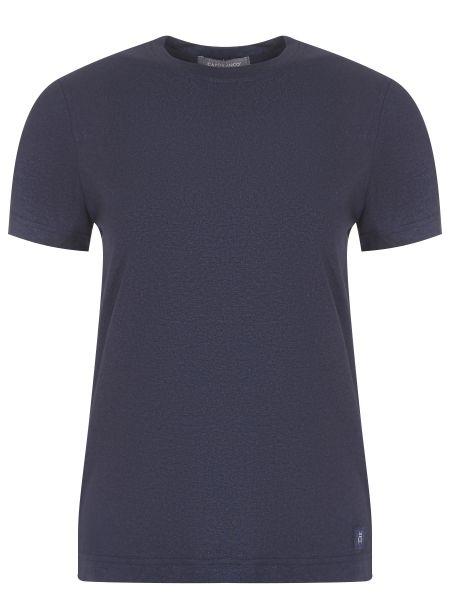 Футбольная синяя базовая футболка с круглым вырезом Capobianco