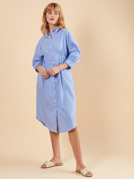 Платье макси в полоску платье-рубашка 12storeez