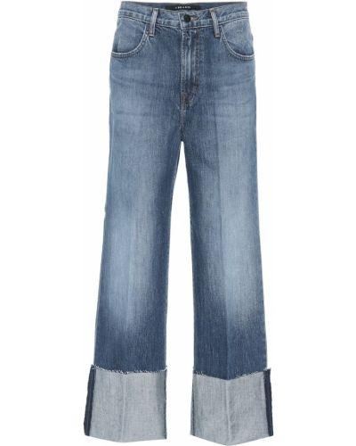 Широкие джинсы укороченные с манжетами J Brand