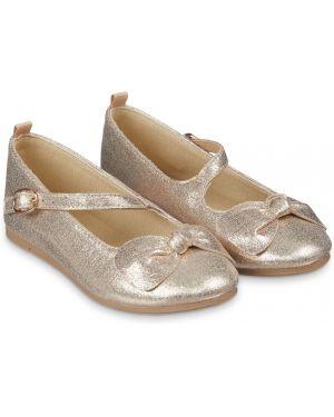 Туфли золотой с бантом Mothercare