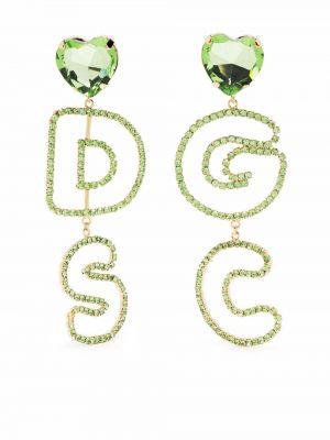 Серьги с логотипом - зеленые Gcds