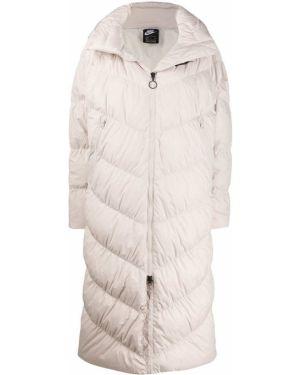 Длинное пальто айвори Nike