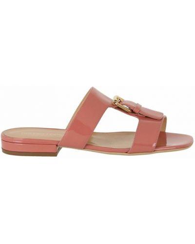 Różowe sandały z klamrą Sergio Rossi