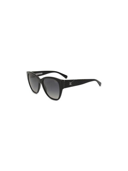 Муслиновые серые солнцезащитные очки Chanel