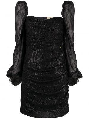 Прямое черное платье с вырезом Liu Jo