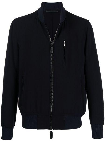 Тонкая с рукавами синяя куртка Giorgio Armani