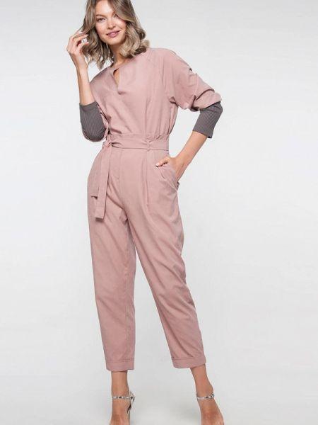 Брючный костюм розовый Лимонти