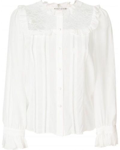 Рубашка с длинным рукавом с вышивкой без воротника хлопковая Alice+olivia