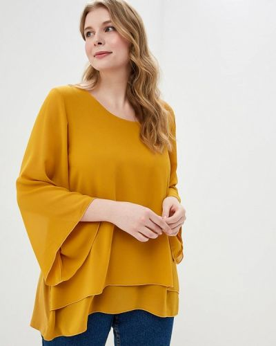 Желтая блузка Over