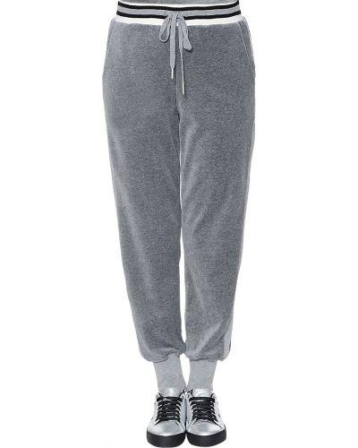 Спортивные брюки из полиэстера - серые Kendall + Kylie