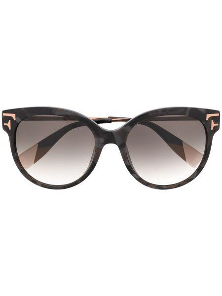 Солнцезащитные очки металлические - черные Furla