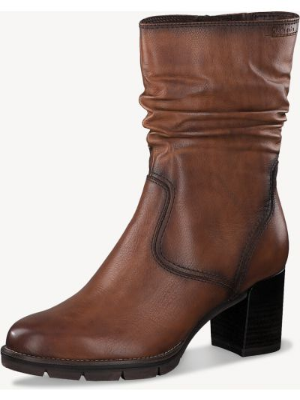 Коричневые сапоги на каблуке Tamaris