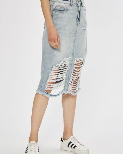 Юбка миди джинсовая на пуговицах Noisy May